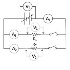 Resistor In Series Circuit Experiment on dc resistive circuit diagram
